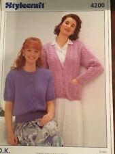"Stylecraft 4200 DK Knitting Pattern Ladies Cardigan & Short Sleeve Top  30/44"""