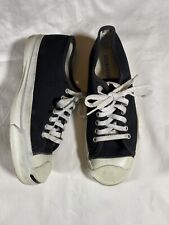 RARE Vintage Jack Purcell Converse Shoes Made In Usa Size 7.5 Black Canvas