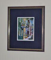 """Victoria Platt Ellis Charleston, SC """"Rainbow Balconies"""" SIGNED Mat & Framed Art"""