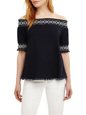 NEW Phase Eight - Blue Bess Pure Cotton Bardot Top RRP £49 8 10 12 14 16 18