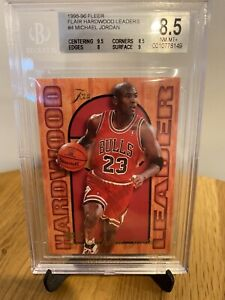 Michael Jordan 1995-96 Fleer Flair Hardwood Leader Insert #4 BGS 8.5