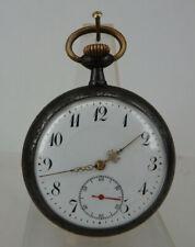 Militärische Herrentaschenuhr Helvetia Eisen brüniert um 1915 (64901)