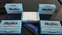 600 ROLLO Blue King Size Tobbacco Cigarrette Filter Tube + FREE INJECTOR
