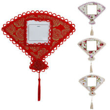 Switch Cover Fan Shape Flower Wall Stickers Light Socket Lace Tassel Decor New