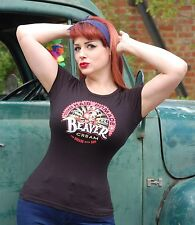 SALE PRICE £9.99! BEAVER CREAM Hair Pomade LADIES Black T-Shirt  COCK GREASE USA