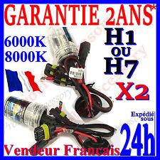 PAIRE 2 AMPOULE LAMPE FEU PHARE XENON H1 H7 HID RECHANGE 6000K 8000K 12V 35W 55W