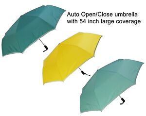 KUD 54 inch Arc Auto Open/Close compact umbrella with large coverage