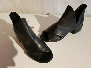 A.S.98 Damen Leder Schaftsandalen Reißverschluss Farbe schwarz Größe 39-40 NEU