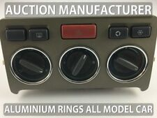 Land Rover Freelander 1998-2003 Aluminium Chrome Heater Control Rings Surrounds