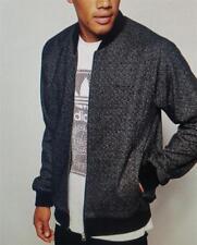 ADIDAS HOMBRE Tweed Set chaqueta negra NUEVO ab7649 en Bolsa / Etiquetado GB