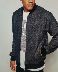 adidas mens tweed set jacket black new ab7649 bagged/tagged rrp£115  uk xsml-lge
