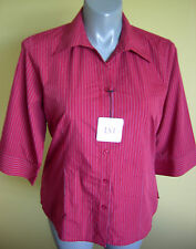 Ladies Womens 3/4 Sleeve Work Shirt Blouse Business Corporate Red LSJ Size18 NWT