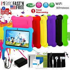 7 Kids Tablet PC Android 4.4 Wi-Fi Case Bundle Dual...