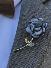 Gray Lapel Pin Enamel Pin Men Women Wedding Favor Suit Pin Brooch Pin