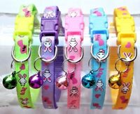 19- 32cm with Bell Collar Pet Cat Kitten Small Dog Puppy Bright Color Bunny Love