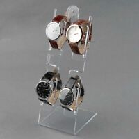 4 Slots Watch Bracelet Jewelry Plastic Display Stand Frame Organizer Holder Rack