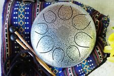 """WuYou Special Notes 8"""" Steel Tongue Drum Handpan Tank, FREE Bag Mallet"""