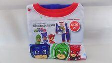PJ Masks 2 Piece Cotton Sleepwear Pajamas Toddler Boy's 2T Race Into The Night