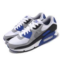 Nike Air Max 90 OG 2020 White Grey Royal Blue Mens Lifestyle Shoes CD0881-102