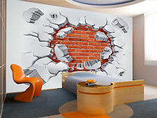 Old Plaster,Red Brick Wall Mural Photo Wallpaper GIANT WALL DECOR PAPER POSTER