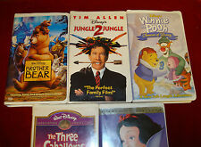 VHS - Lot of 5 Disney VHS Films (Clamshell Cases)