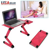 Adjustable Folding Laptop Notebook Table Computer Desk Stand Lap Sofa Bed Tray