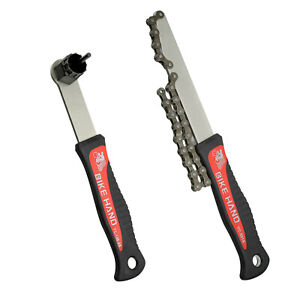 BIKEHAND Bike Shimano Freewheel Cassette Install Removal Tool with Chain Whip