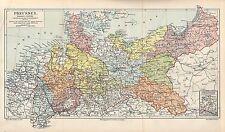 PREUSSEN POSEN SCHLESIEN POMMERN HESSEN - NASSAU LANDKARTE  1897