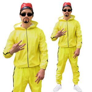 Ali G Costume Gangster Rapper Suit Tracksuit Scouser 90s Mens Fancy Dress Outfit