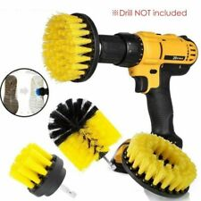 1 Set/3 Pcs Electric Drill Brush Kit Plastic Round Cleaning Brush For Carpet new