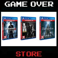 Uncharted 4 + Bloodborne + The last of us Ps4 PlayStation Hits Remastered Nuovo