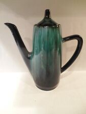 Vintage Blue Mountain Pottery BMP Coffee Pot Canada Green Drip Glaze