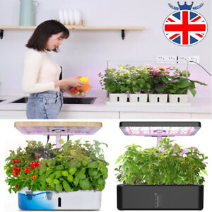 12/20 Pods Indoor Herb Garden Kit Hydroponics Growing System with LED Grow Light