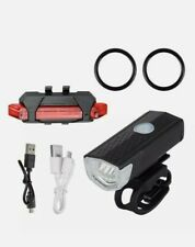 Bicycle USB Rechargeable LED Front &  Rear lights, Mtb road Commuter.