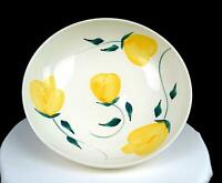 """CHINESE POTTERY YELLOW FLORAL DESIGN LARGE 11 1/4"""" SALAD BOWL"""