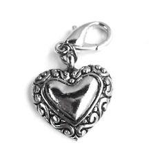 Modeschmuck-Halsketten & -Anhänger aus gemischten Metallen mit Herz-Glück