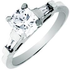 Three Stone GIA Certified Platinum Diamond Cushion Cut Engagement Ring 2.10 CT
