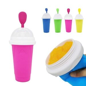 Smoothie Slushy Cup Squeeze Cup Chilled Slushy Maker Ice Cup ,Novelty Slush Cup