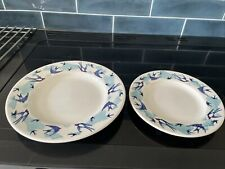 Emma Bridgewater Swallows 10.5 And 8.5 Plates New Firsts