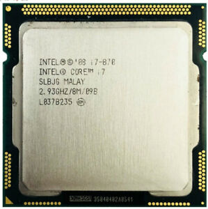 Processeur Intel® Core i7 870 (8M Cache, 2,93 GHz) LGA1156