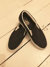Vans Black Classic slip On Trainers Snake Effect Suede Size 5