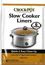 "Crock-Pot Slow Cooker Liners Soup-Chili bags  6ct 13"" x 20.30"" 3 qt to 7 qt"