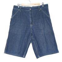 Carhartt Single Knee Bermuda Mens Denim Jeans Shorts Size 34 Blue