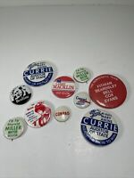 Lot Of 10 Vintage Indiana Political pinback Pins Democrat Campaign Election