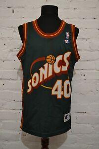 Vintage Champion Shawn Kemp Seattle Sonics Green Basketball NBA Jersey MENS M