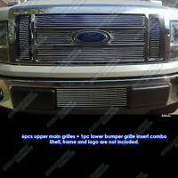 Fits 09-2012 2011 Ford F-150 Lariat/King Ranch Billet Grille Grill Combo Insert
