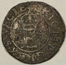 Sweden 1563 1/2 Ore Coin, Silver, SM#42
