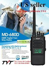 Tyt Md-680D Uhf Dmr/Analog commercial two-way radio, Led Active View Us Seller