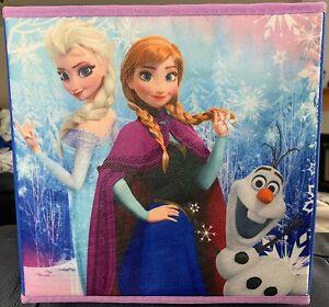 "Disney FROZEN Collapsible Storage Cubes 2-pack 10x10x10"" Anna Elsa Olaf"