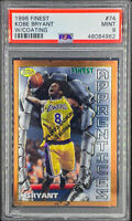 Kobe Bryant 1996-97 Topps Finest RC Rookie Card with Coating PSA 9 MINT LAKERS